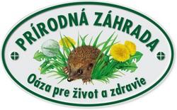 plaketa prírodná záhrada