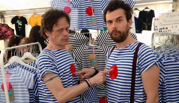 Robo Roth a Juraj Kemka. Aj oni už nosia pískacie tričká.