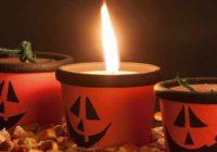 Halloween: vyrobte si tekvicovú sviečku z kvetináča