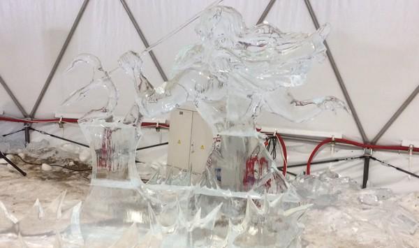 ľadová socha na Hrebienku