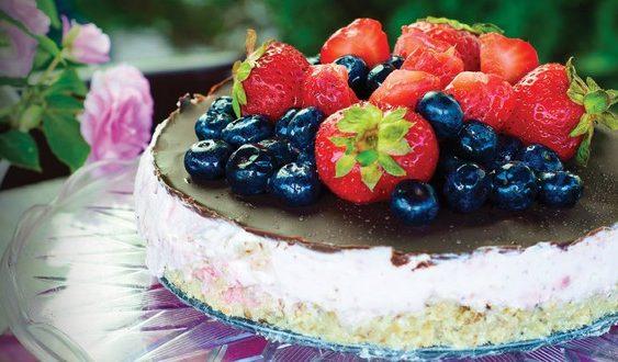 jahodová tortička s mascarpone