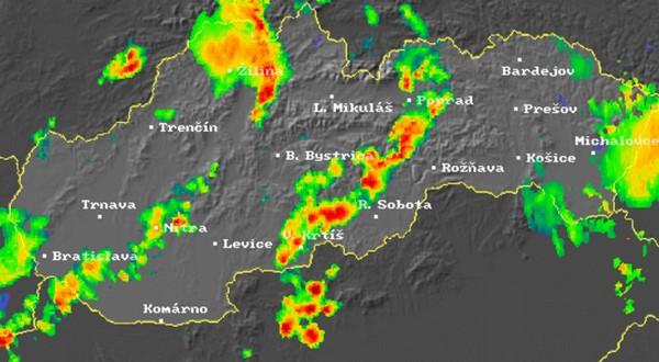 počasie na internete radarové informácie