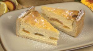 broskyňovo-tvarohový koláč