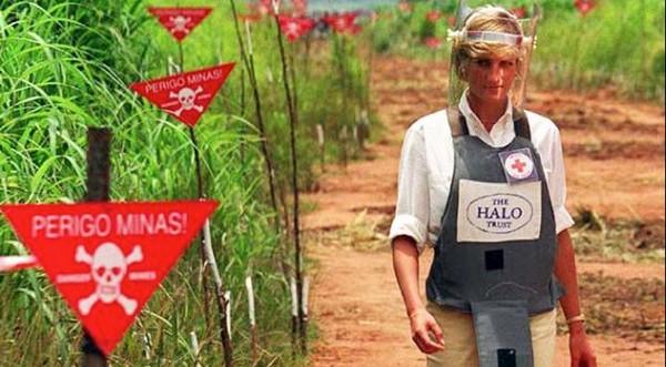 princezná diana kampaň proti nášľapným mínam