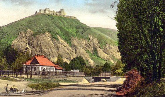 čachtický hrad dobová fotka