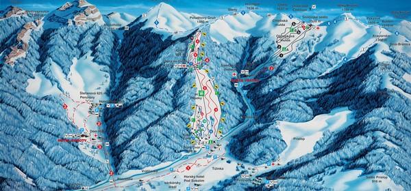 lyžiarske strediská - Vrátna