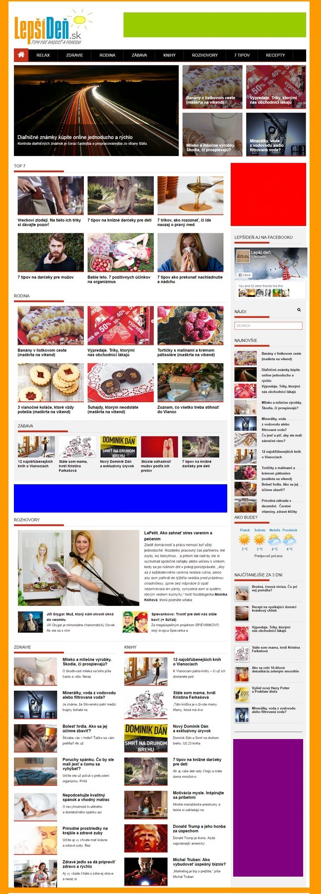 lepsiden.sk reklama cenník bannerov