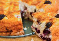 Tvarohovo-čerešňový koláč