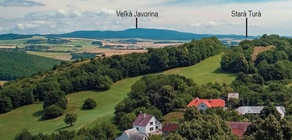 Myjavská pahorkatina z hradu Branč