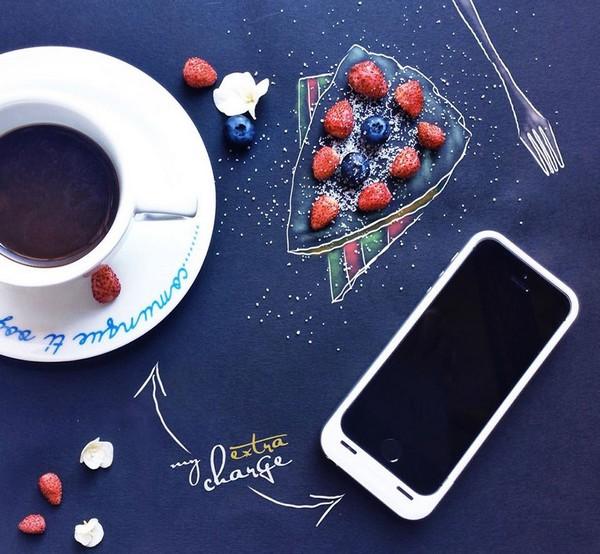 Ranná káva a lepší deň v podaní ilustrátorky Cinzie Bolognesi.