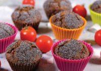 Zdravé desiate: Vegánske paradajkovo-makové muffiny
