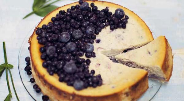 čučoriedkovo-ricottový koláč
