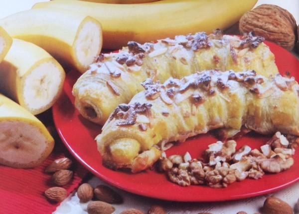 banány v lístkovom ceste