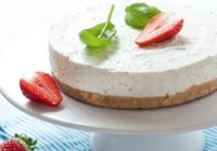 Nepečená bazalkovo-tvarohová torta (maškrta na víkend)