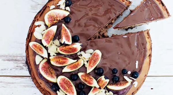 čokoládový cheesecake s figami