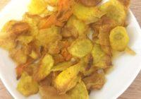 Batatové čipsy. Zdravá pochúťka ktelke (fotorecept)