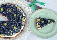 Keksíkový čučoriedkový koláč smascarpone plnkou