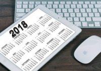 Rok 2018 a sviatky. Len málo predĺžených víkendov