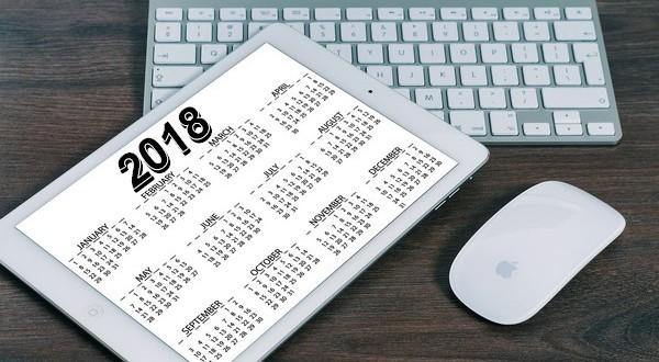 rok 2018 kalendár sviatky prázdniny