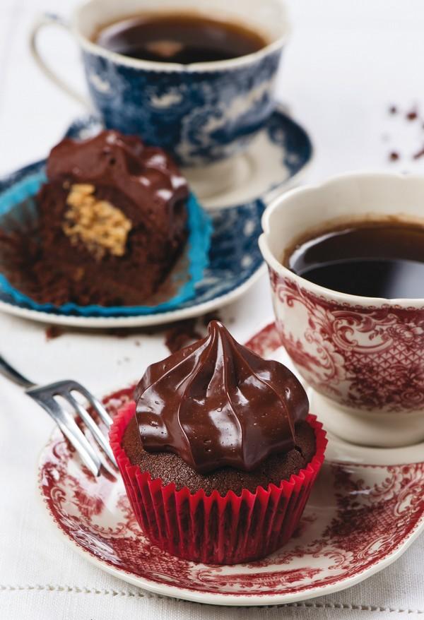 arašidovo-čokoládové cupcaky