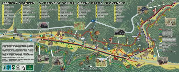 lesnícky skanzen mapa