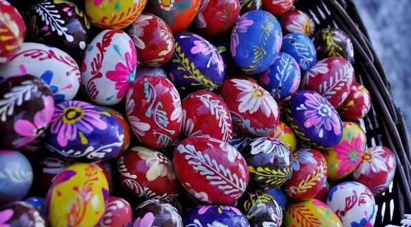 zdobené veľkonočné vajíčka