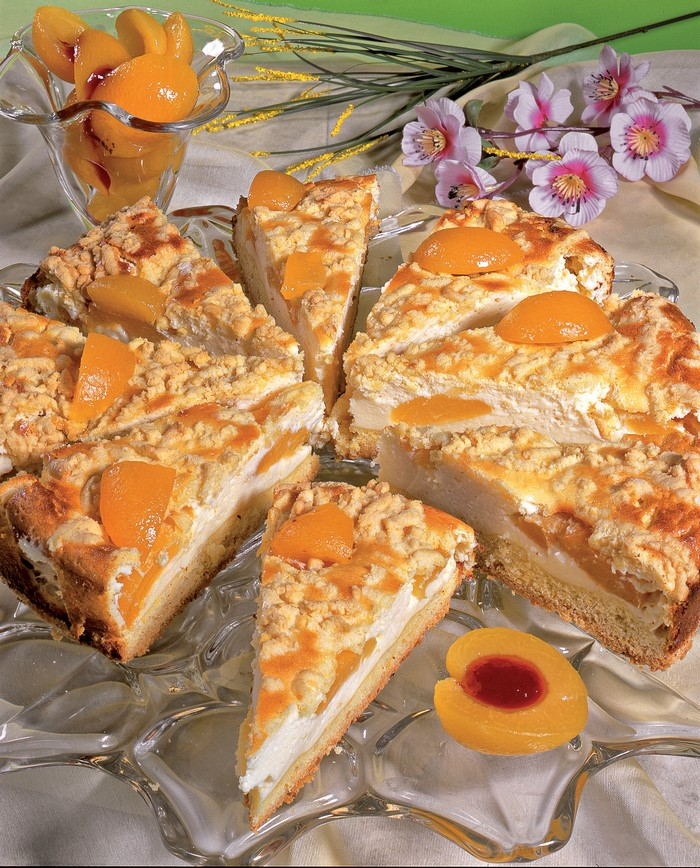 marhuľový koláč s tvarohom