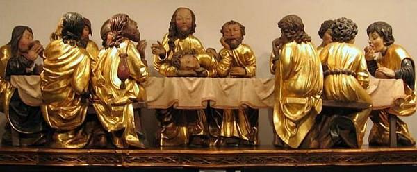 Posledná večera, gotické súsošie od majstra Pavla z Levoče.