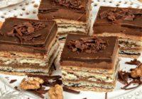Orechovo-čokoládové vrstvené rezy | RECEPT