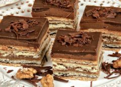 Orechovo-čokoládové vrstvené rezy   RECEPT