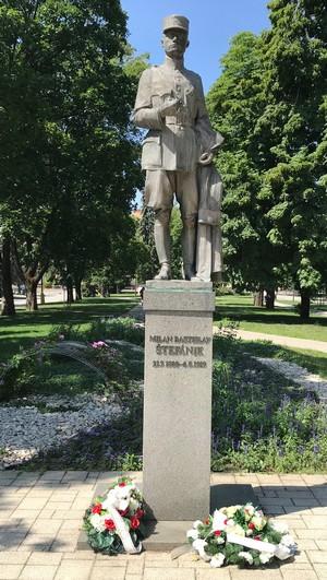 Trnava socha Milana Rastislava Štefánika