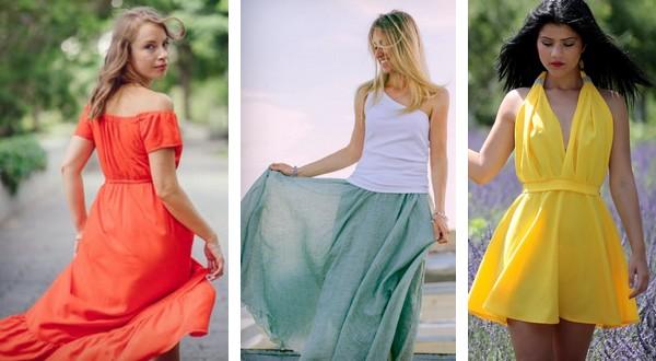 aké šaty na leto