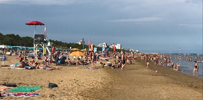 lignano pláž