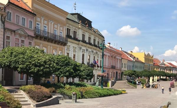 Prešov Hlavná ulica centrum
