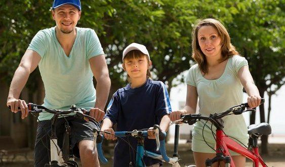 rodina na bicykloch