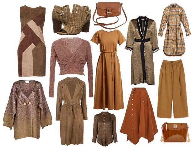 hnedá farba - módne trendy na jeseň