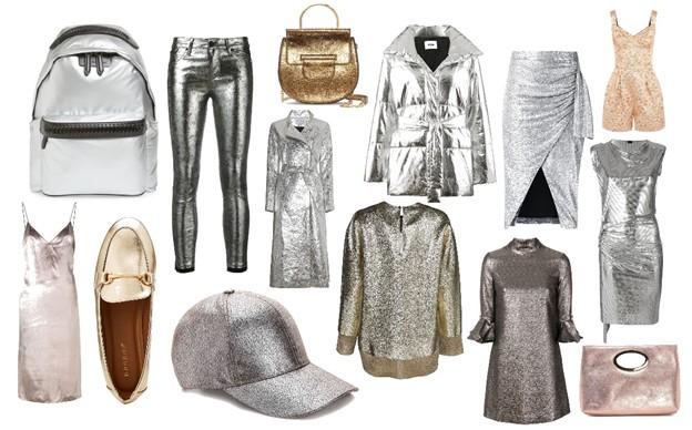 metalické materiály - módne trendy na jeseň