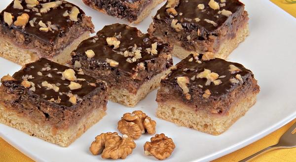 jablkové recepty - orechovo-jablkový koláč