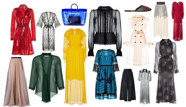 priehľadné - módne trendy na jeseň
