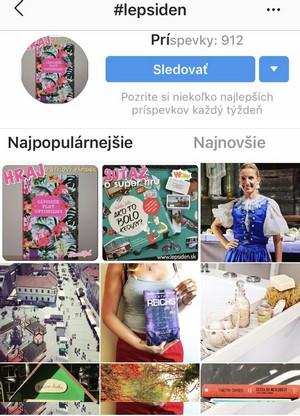 lepsiden.sk na Instagrame hashtag