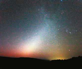 Zodiakálne svetlo v Poloninách