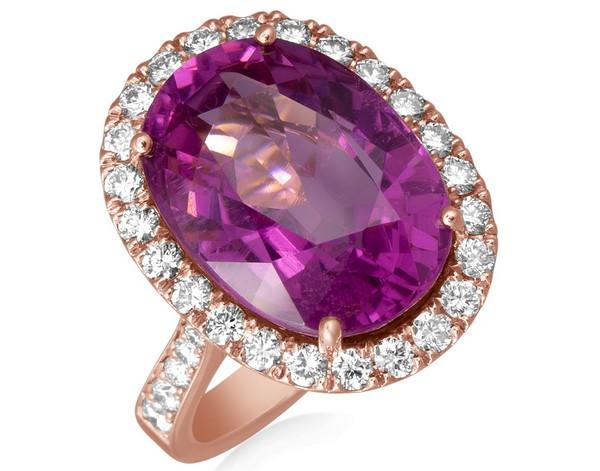 prsteň s ružovým kameňom alo diamonds