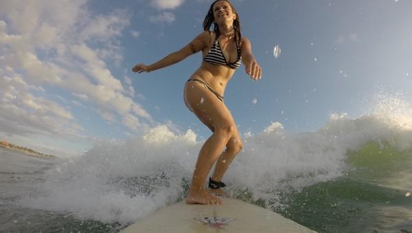 Silvia Púchovská na surfe