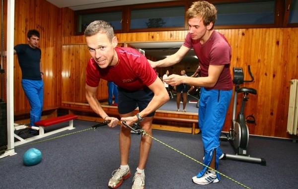 Matej Tóth trénuje