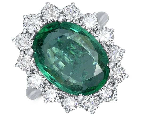 prsteň so zeleným očkom alo diamonds