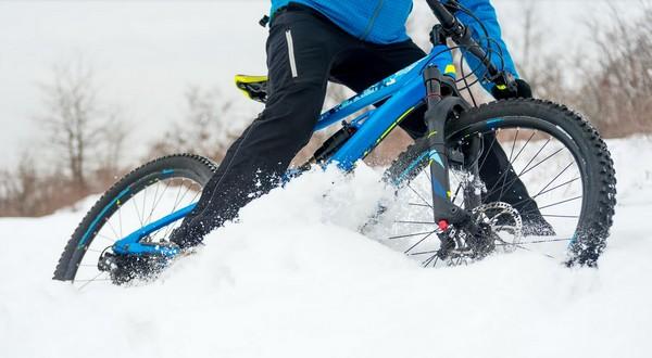 detský bicykel v zime