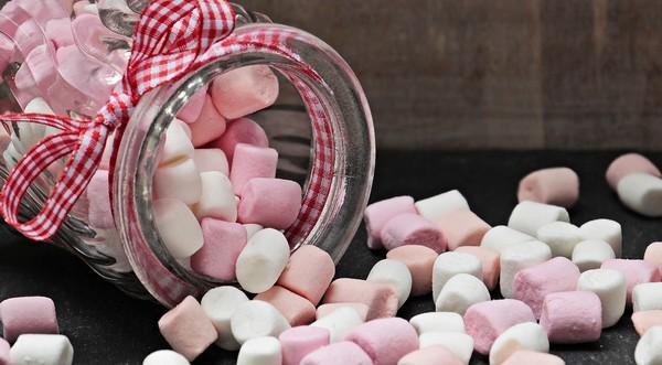 umelé sladidlá marshmalows