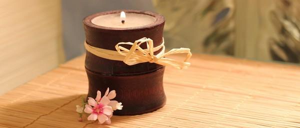 sviečka bambus
