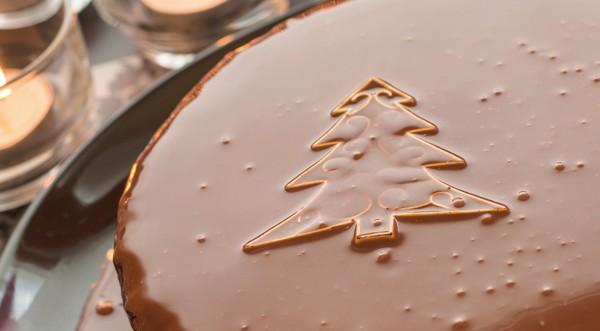 sviatočná čokoládová torta