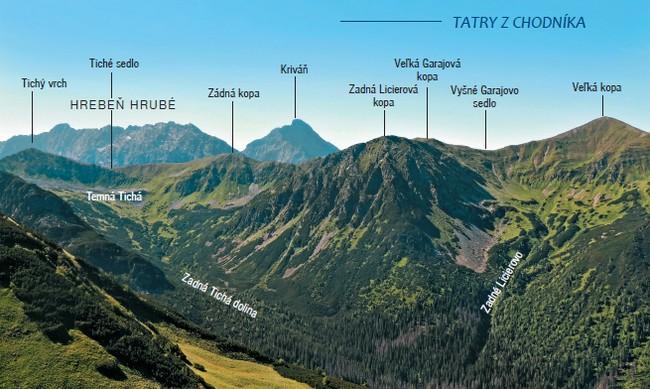 Pohľad z chodníka do sedla Závory na Zadnú Tichú dolinu